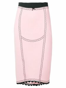 Marco De Vincenzo embroidered skirt - Pink