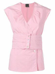 Pinko button-detail blouse