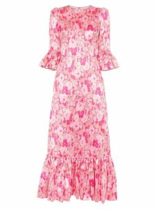 The Vampire's Wife the juno floral print silk dress - Pink