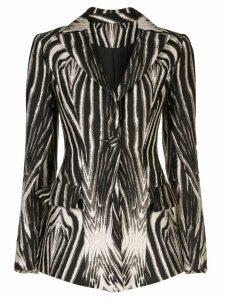 Christian Siriano zebra print blazer - Black