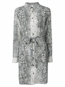 Gold Hawk snake print shirt dress - Grey