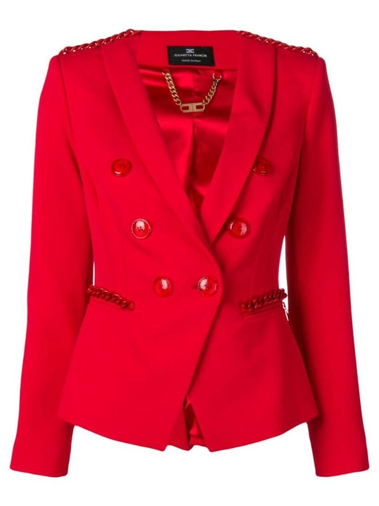 Elisabetta Franchi double-breasted blazer - Red