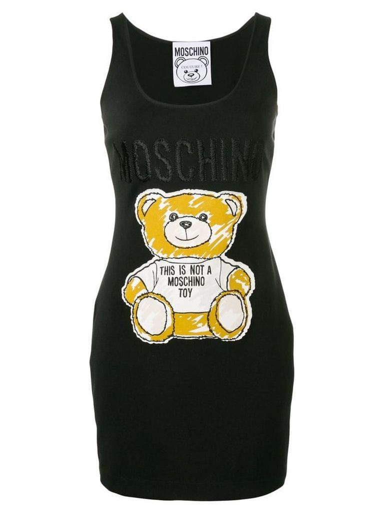 Moschino Teddy tank dress - Black