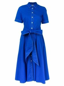 P.A.R.O.S.H. short-sleeve flared dress - Blue
