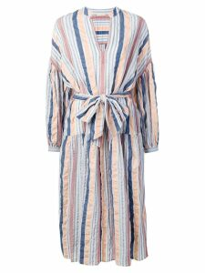 Ulla Johnson textured stripe midi dress - Blue