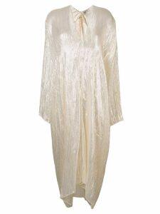 Forte Forte long-sleeve flared dress - Neutrals