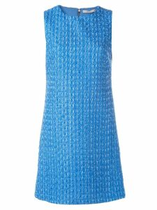 Alice+Olivia tweed mini dress - Blue