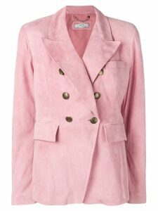 Desa 1972 leather blazer - PINK