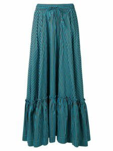 P.A.R.O.S.H. long striped skirt - Blue
