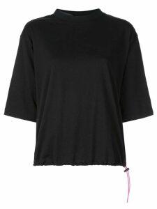 Unravel Project drawstring T-shirt - Black