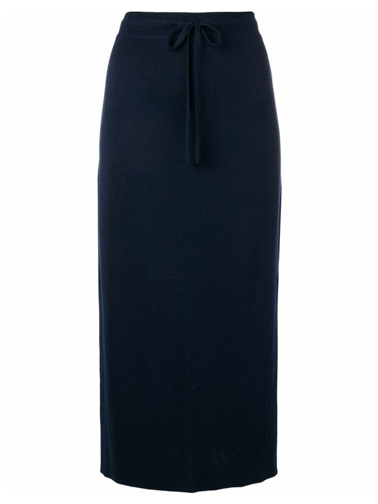 Pringle Of Scotland drawstring skirt - Blue