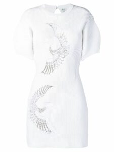 Kenzo Flying Phoenix ribbed dress - White