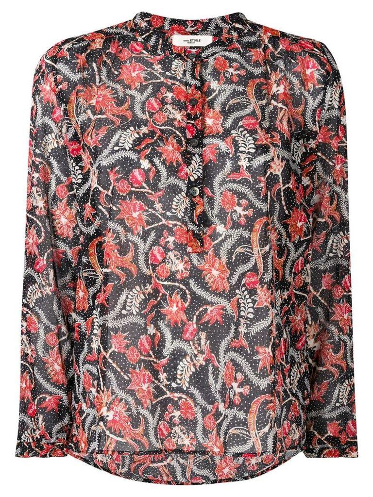 Isabel Marant Étoile Maria floral printed blouse - Black