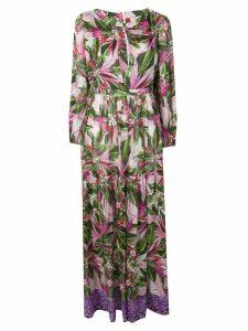 Black Coral floral print maxi dress - Green