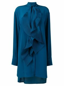 Givenchy pleated scarf shirt dress - Blue