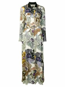 Etro floral shirt maxi dress - Neutrals