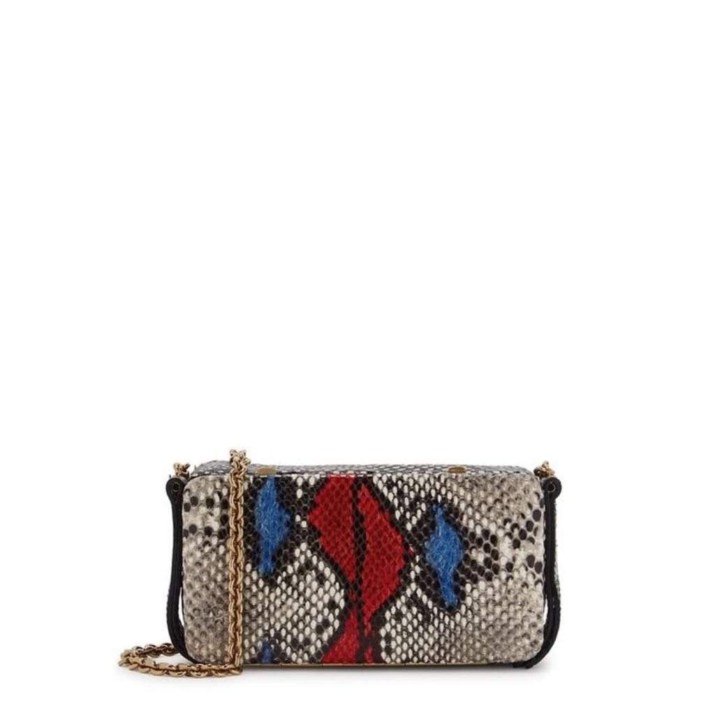 Lutz Morris Elise Python-effect Leather Shoulder Bag