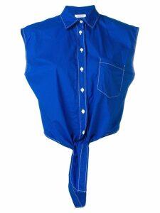 P.A.R.O.S.H. cropped sleeveless shirt - Blue