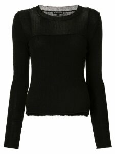 Ann Demeulemeester long-sleeve fitted sweater - Black