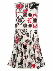 Red Valentino printed pleated dress - Neutrals