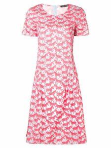 Luisa Cerano zebra print flared dress - Pink