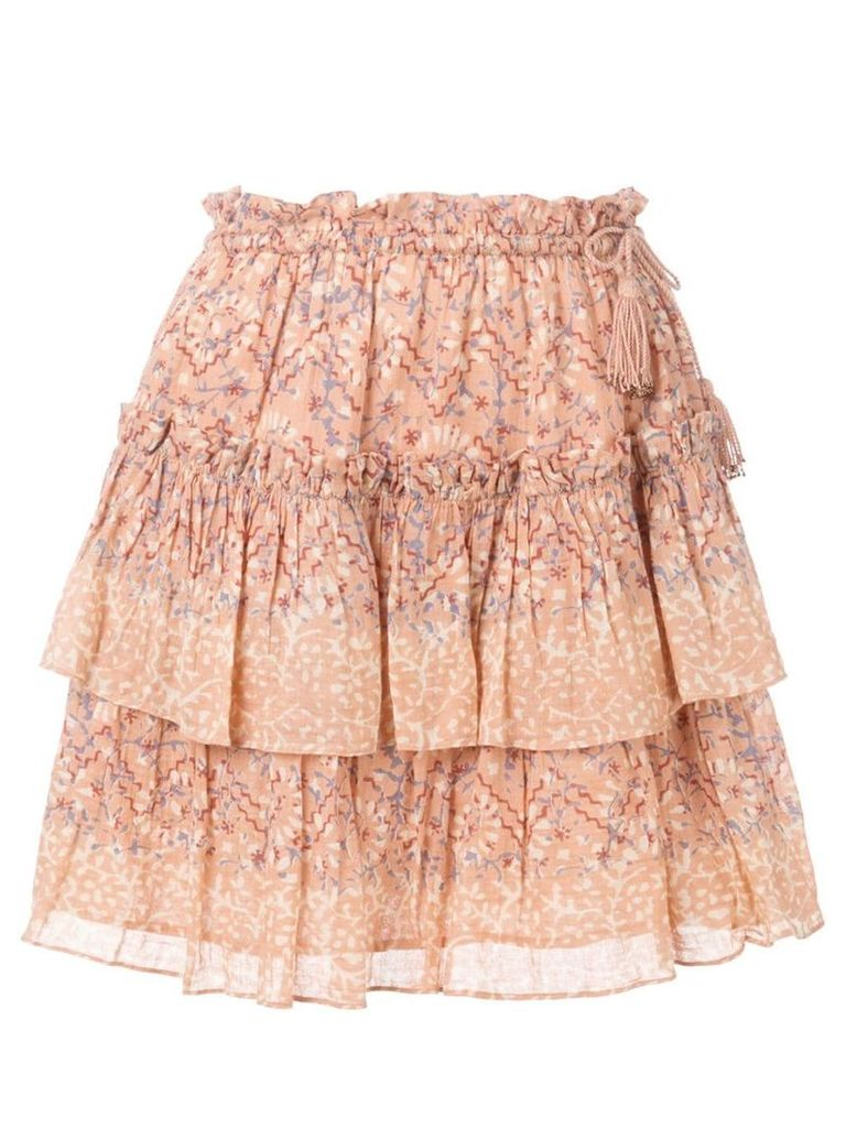 Ulla Johnson Rose floral skirt - Pink