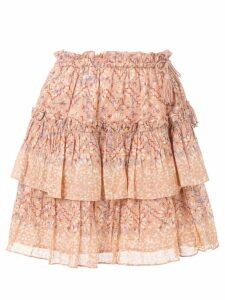 Ulla Johnson Rose floral skirt - Pink