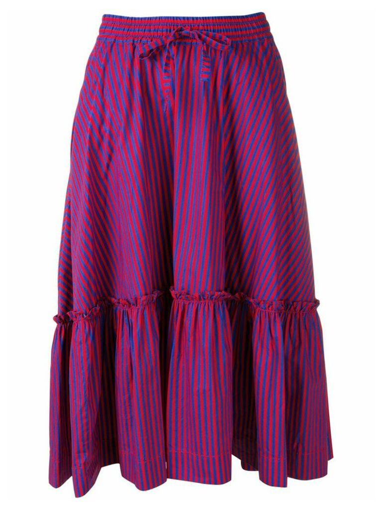 P.A.R.O.S.H. striped midi skirt - Blue