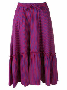 P.A.R.O.S.H. striped midi skirt - Blue