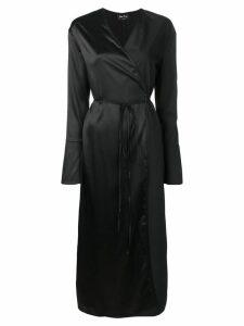 Andrea Ya'aqov long wrap dress - Black