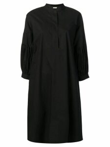 Odeeh pleated sleeve dress - Black