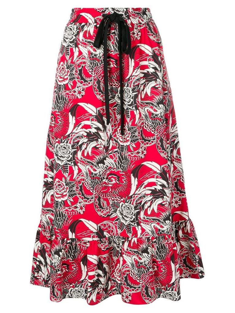 Red Valentino floral print skirt
