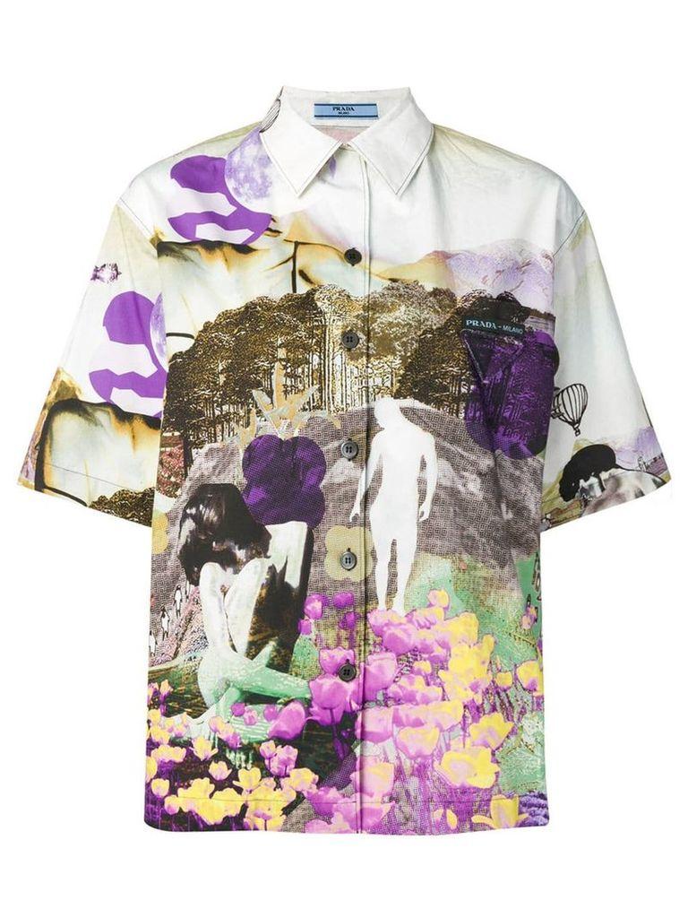Prada abstract print shirt - Neutrals