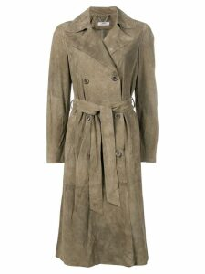 Desa Collection belted double-breasted coat - Green