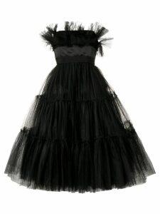 Brognano strapless tulle dress - Black