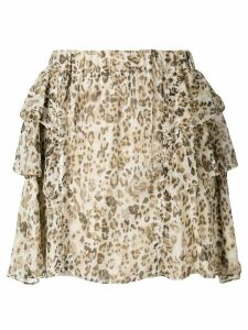 Iro Moody Leo print skirt - Neutrals