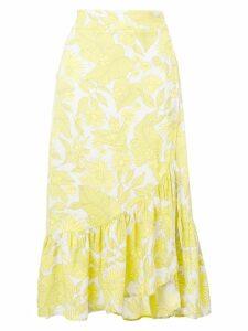 Baum Und Pferdgarten asymmetric ruffled skirt - Yellow