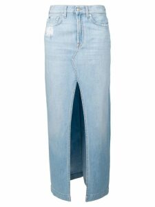 7 For All Mankind long denim skirt - Blue