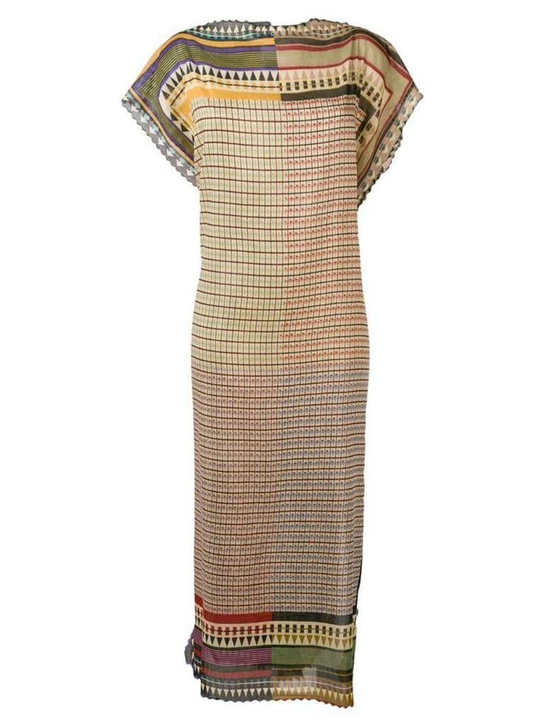 Faliero Sarti tribal print dress - Neutrals