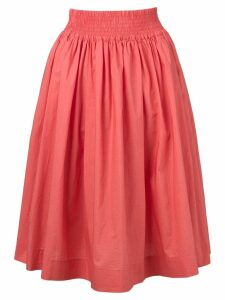 Woolrich flared midi skirt - Pink