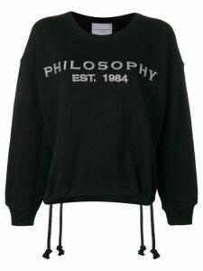 Philosophy Di Lorenzo Serafini logo sweatshirt - Black