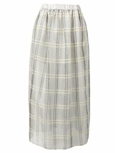 Emporio Armani sequinned check full skirt - Grey