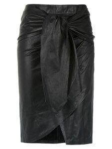 Andrea Bogosian leather midi skirt - Black