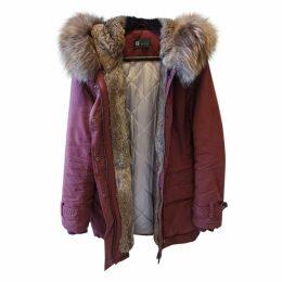 Burgundy Cotton Coat