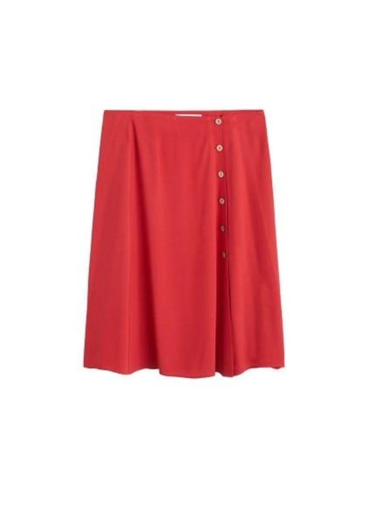 Side buttoned skirt
