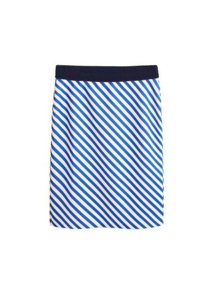 Stripped printed skirt