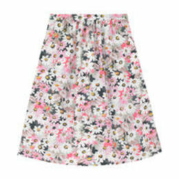 Painted Daisy Cotton Skirt