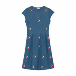 Strawberries Embroidered Dress