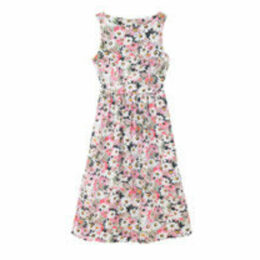 Painted Daisy Cotton Sleeveless Dress