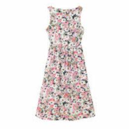 Painted Daisy Cotton Sleeveless Dress